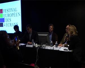 Intervenants de la conférence sur l'avenir de la presse face au numérique